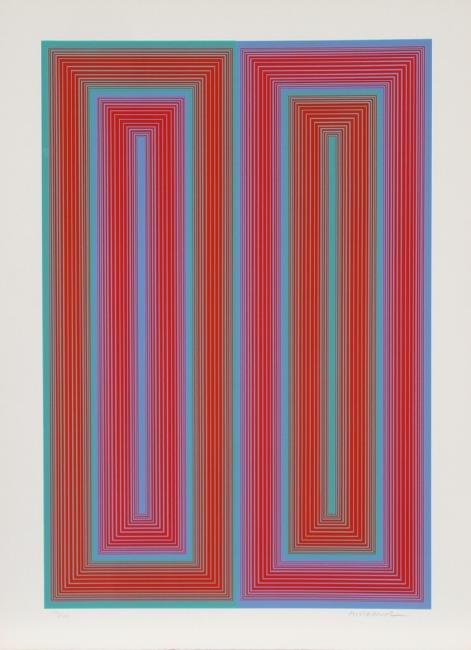 Richard Anuszkiewicz, Untitled from Peace Portfolio,