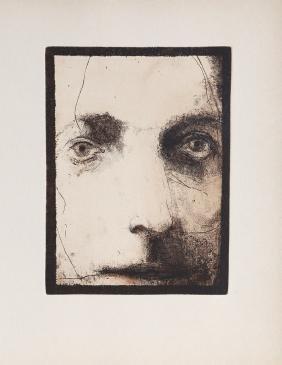 Leonard Baskin, Face (8), Etching