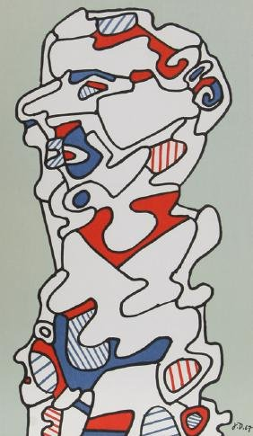 Jean Dubuffet, Untitled, Lithograph