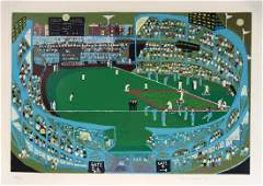 Ralph Fasanella, Ball Park, Serigraph