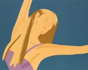 Alex Katz, Night: William Dunas Dance II, Lithograph