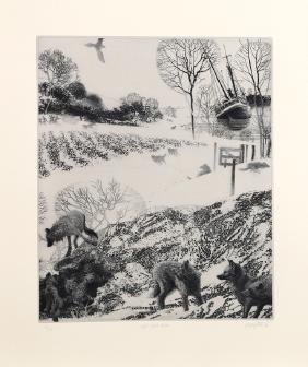 Peter Milton, Light Sweet Crude, Intaglio Etching
