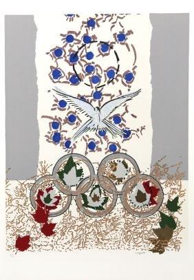 Jean-Paul Riopelle, Dove of Peace, Silkscreen