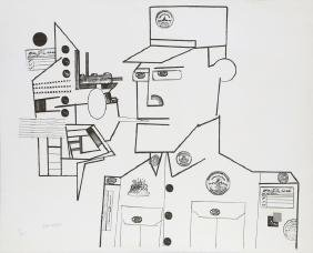 Saul Steinberg, The General from the Peace Portfolio,