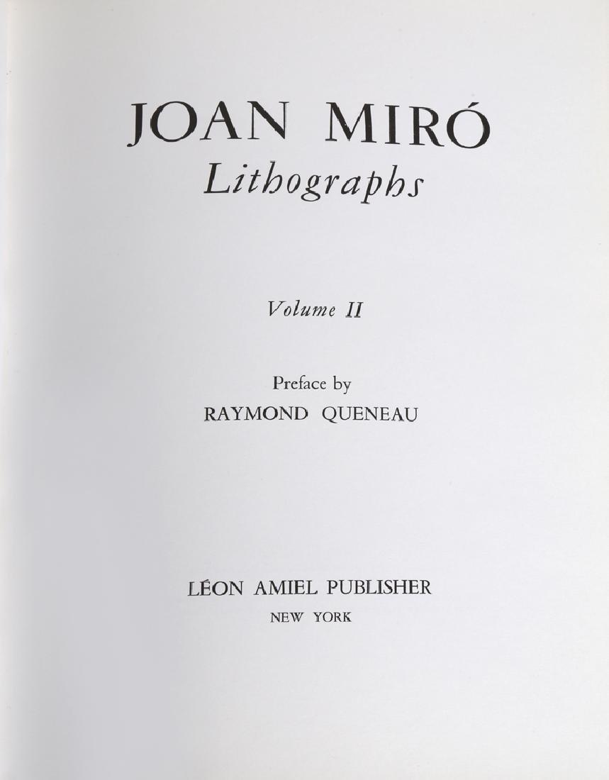 Joan Miro, Miro Lithographs Volume II, Book - 2