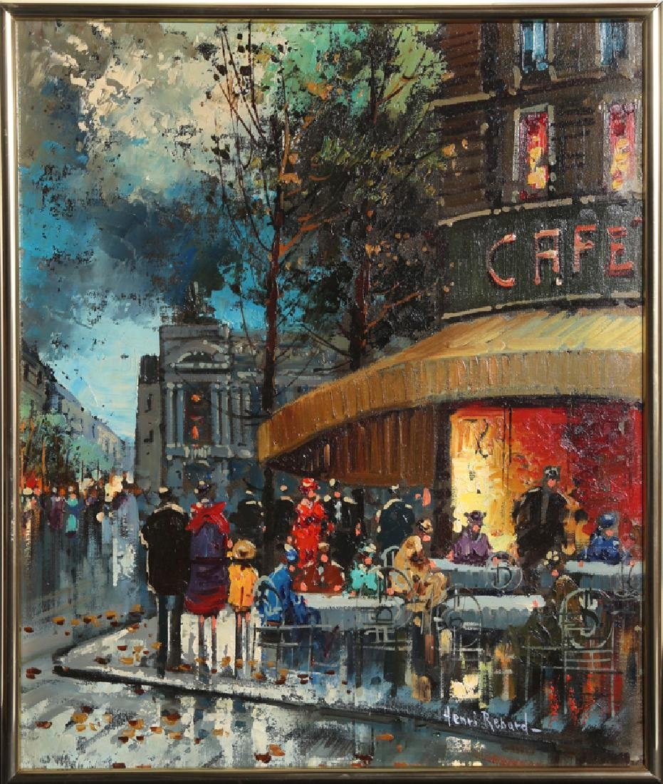 Paul Renard, Corner Cafe, Oil Painting