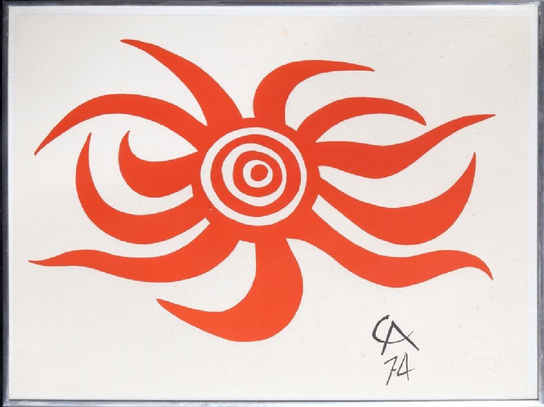 Alexander Calder, Sunburst, Lithograph