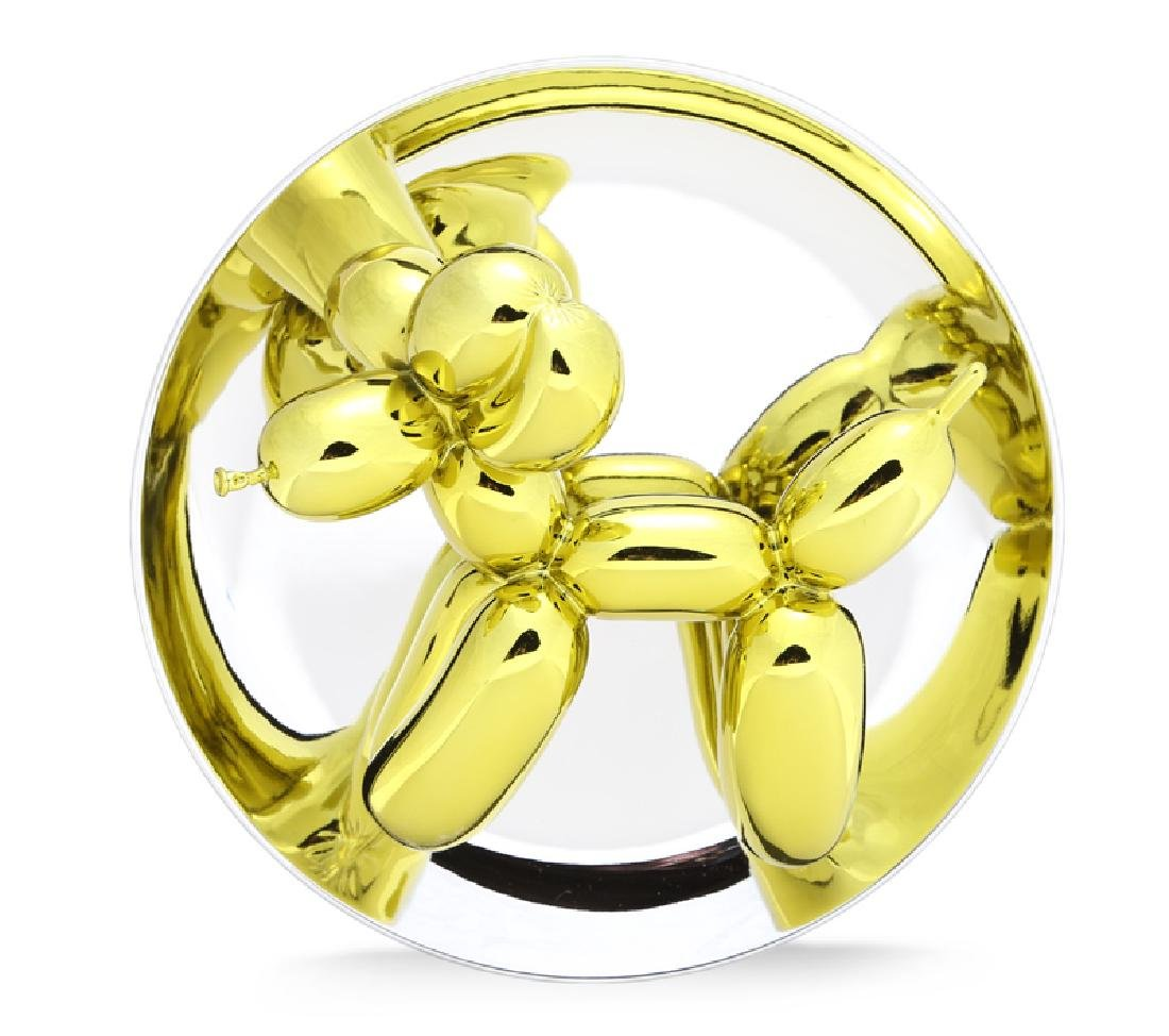 Jeff Koons, Balloon Dog (Yellow), Porcelain with Mirror