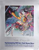 Peter Max, Enchanting Flower Festival 1989, Signed