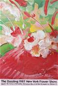 Peter Max, Enchanting Flower Festival 1987, Signed Post
