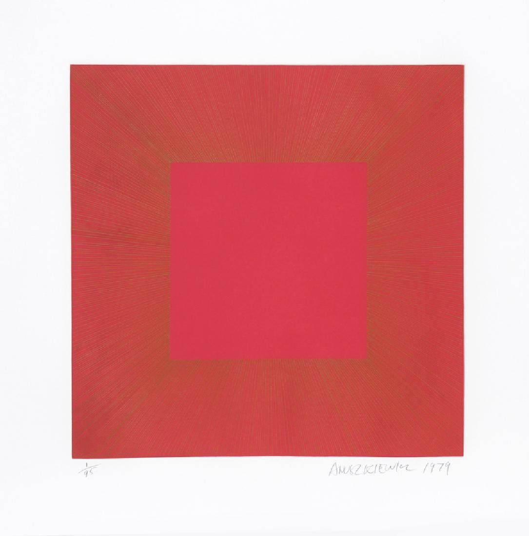 Richard Anuszkiewicz, Summer Suite (Red with Gold I),