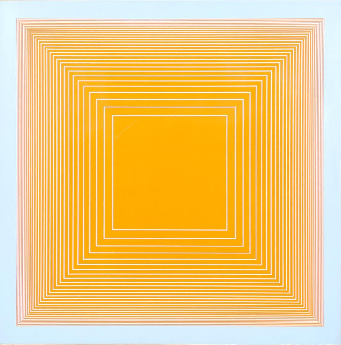 Richard Anuszkiewicz, Orange on Blue Square, Silkscreen