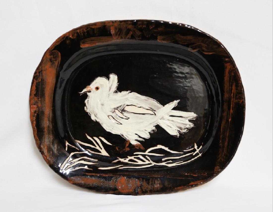 Pablo Picasso, Colombe Sur Lit de Paille (Dove on a