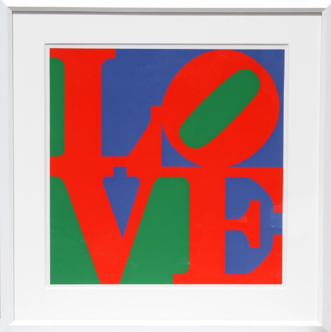 Robert Indiana, Philadelphia Love, Serigraph