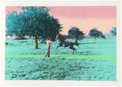 Elizabeth Lennard Flying Horse Lithograph