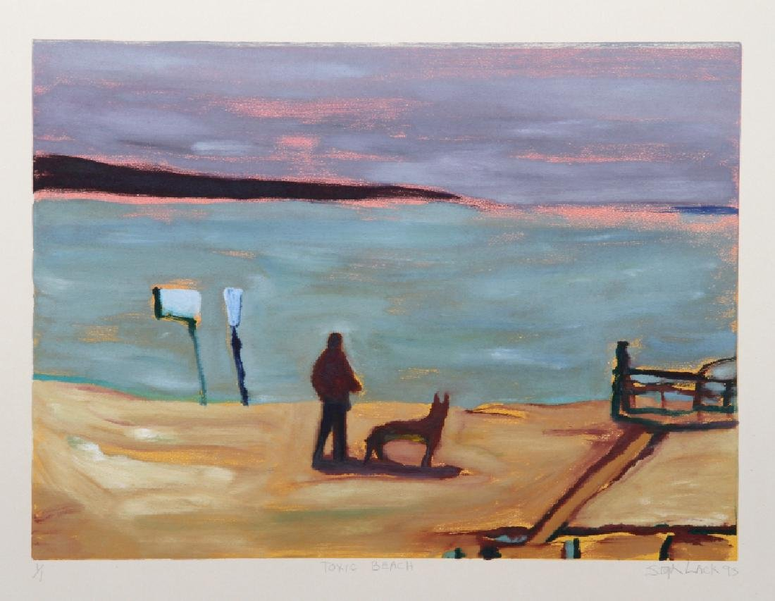 Stephen Lack, Toxic Beach, Etching