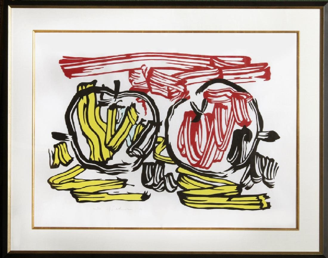 Roy Lichtenstein, Red Apple and Yellow Apple (C. 197),
