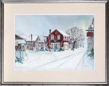 Andrew Menna, The Pewter Shop, Watercolor Painting
