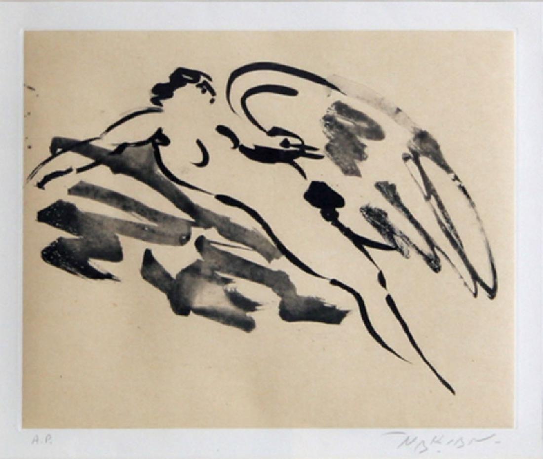 Reuben Nakian, Leda and the Swan - 11, Etching and