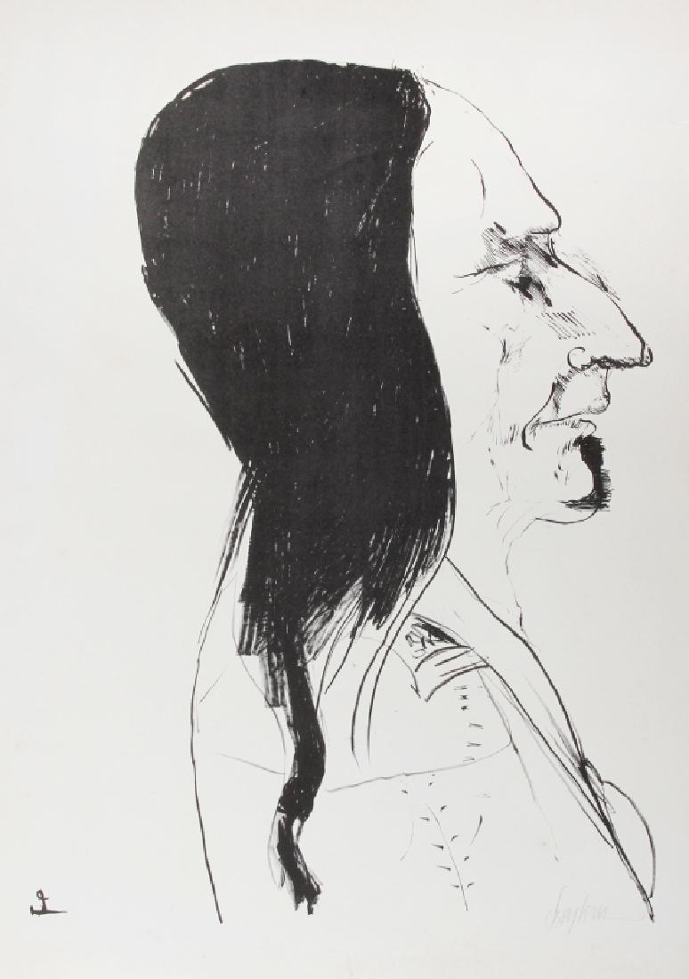 Leonard Baskin, Sitting Bull, Aquatint Etching