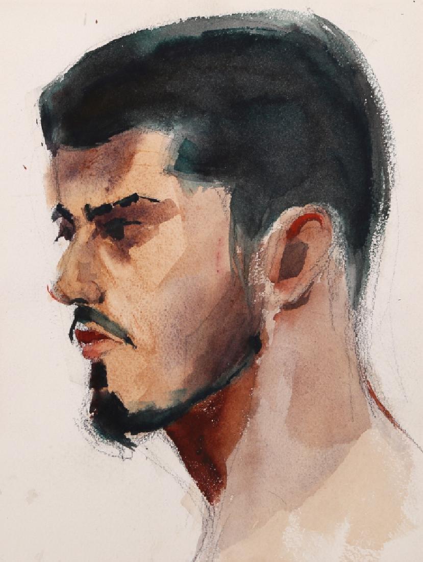 Eve Nethercott, Portrait of Man with Beard (P2.64),