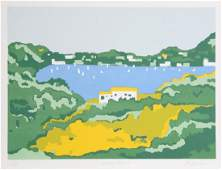Patricia Sussman Grecian Coast II Serigraph