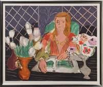 Henri Matisse Woman and Flowers II Serigraph Poster