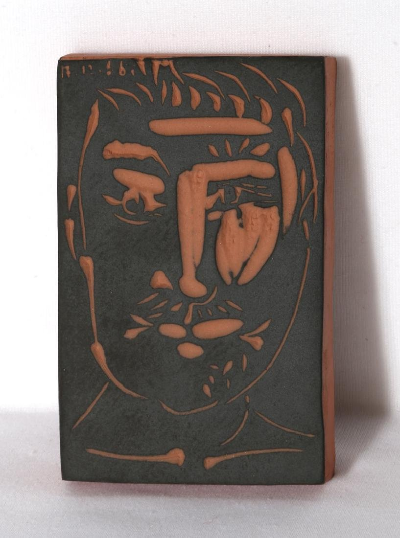 Pablo Picasso, Visage de Homme (Ramie 539), Red