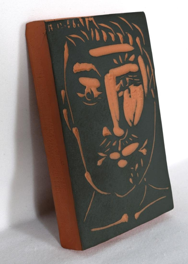 Pablo Picasso, Visage de Homme (Ramie 539), Red - 2
