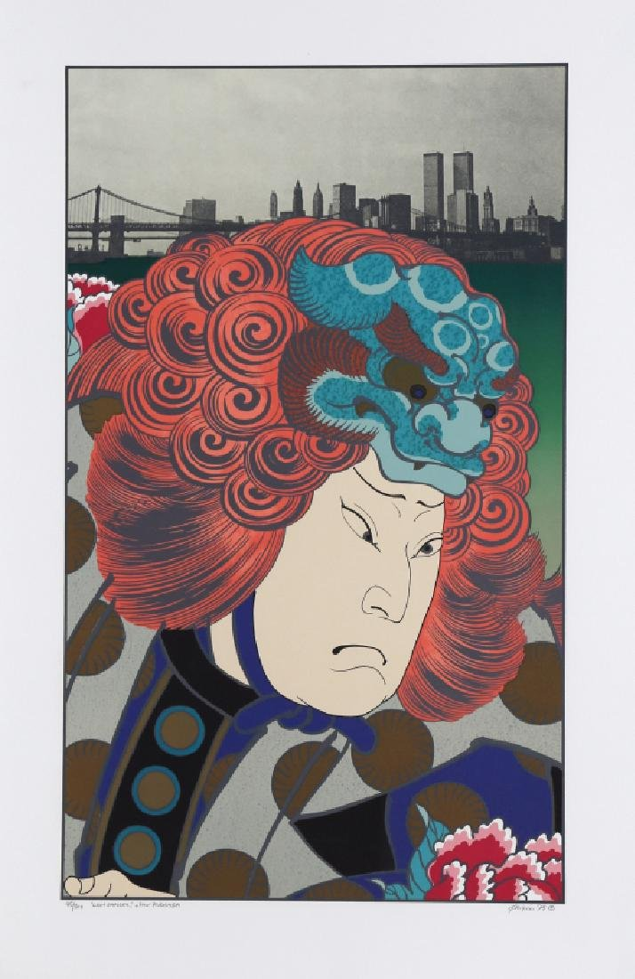 Michael Knigin, Lion Dancer (After Hirosada), Serigraph