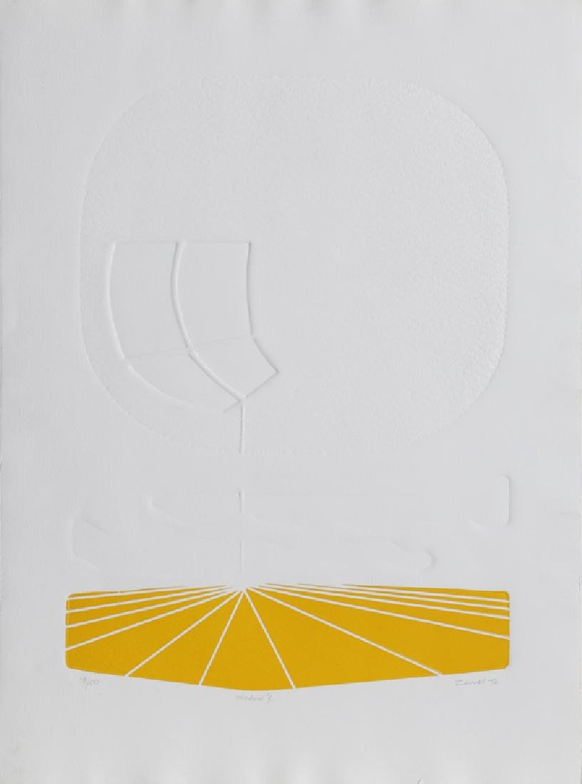 Yigal Zemer, Window V, Intaglio Etching with Aquatint