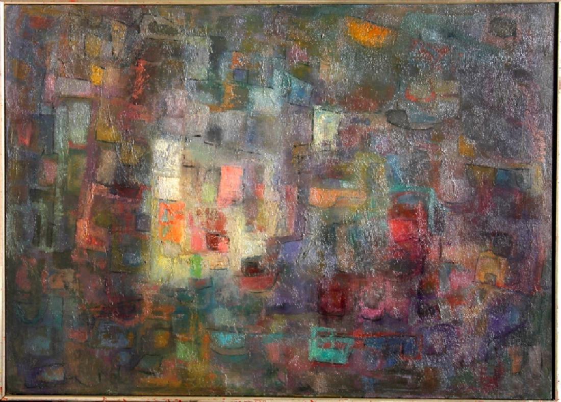 Miriam Bromberg, Purple Geometric Abstract, Oil