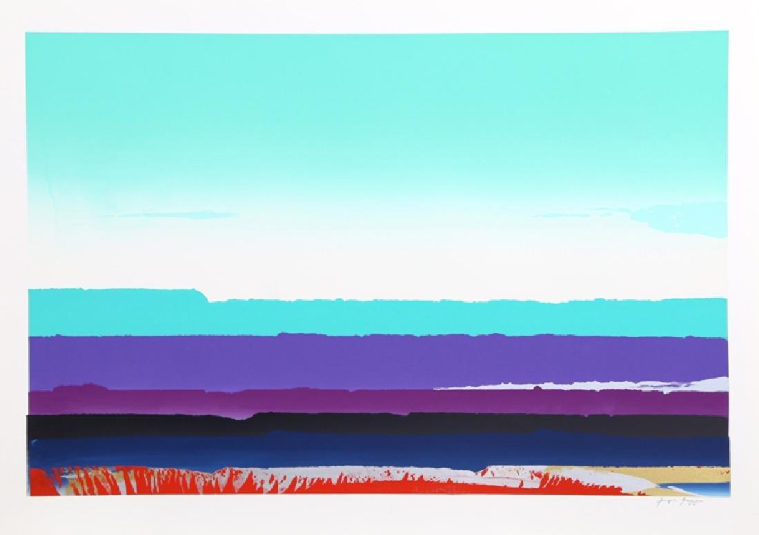 Joseph Grippi, Green Sky, Silkscreen Monoprint,