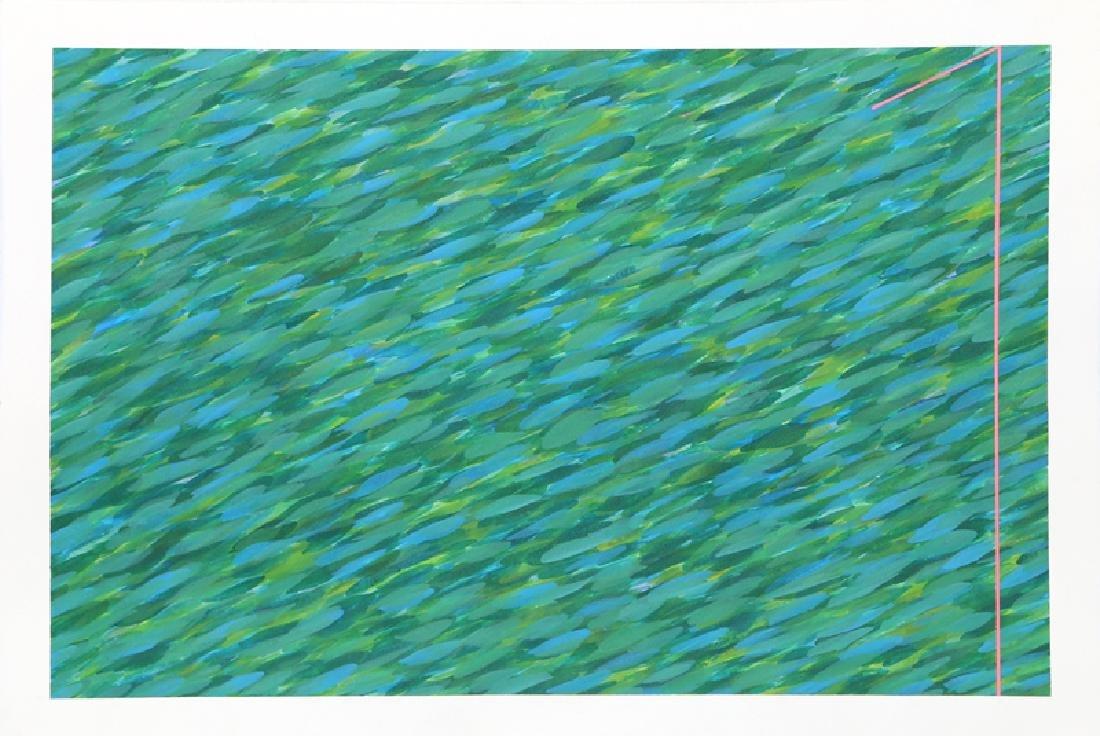 Farid Haddad, Untitled (Green), Acrylic
