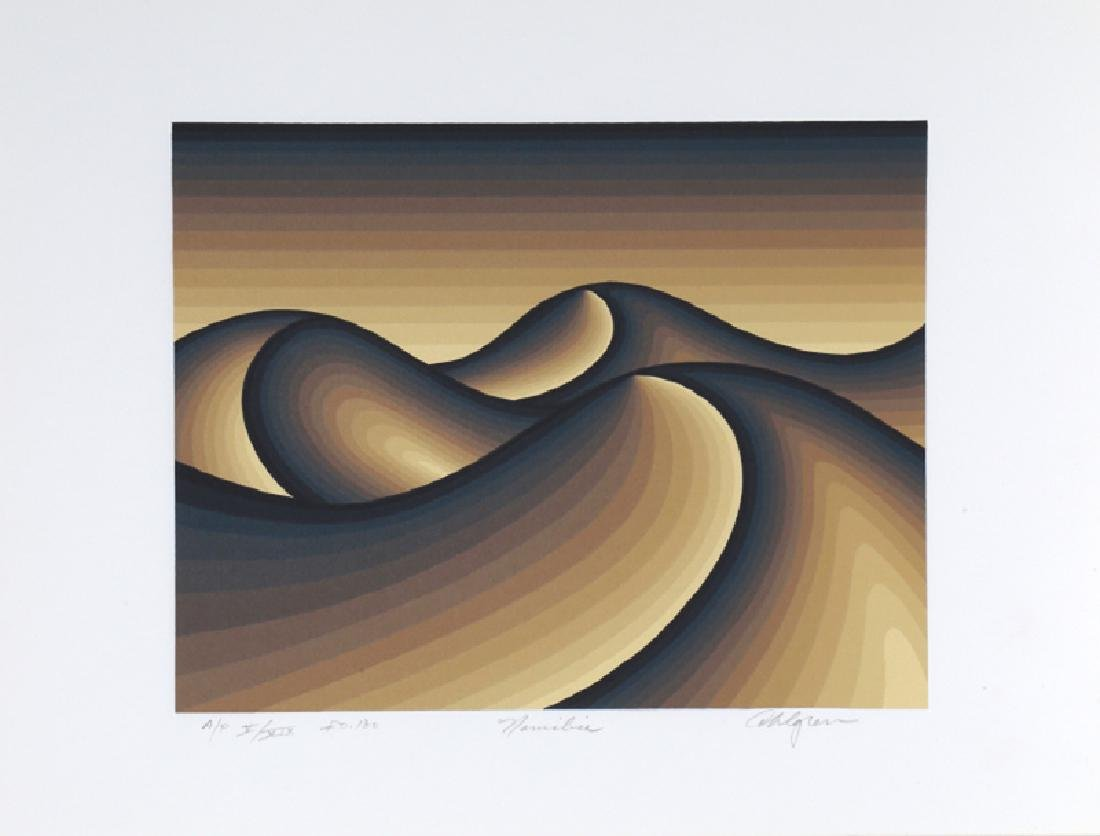 Roy Ahlgren, Namibia, Silkscreen,