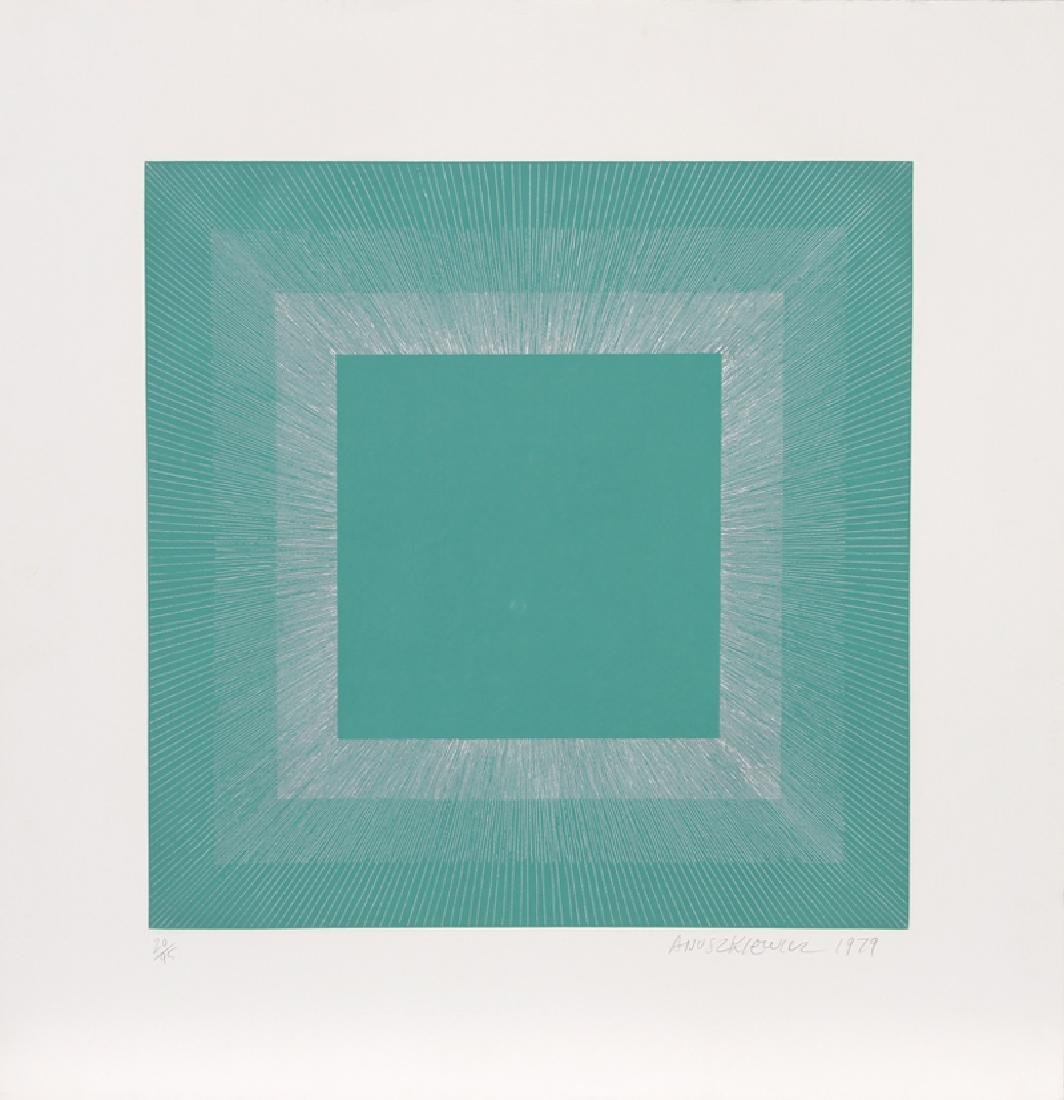 Richard Anuszkiewicz, Winter Suite (Green with Silver),
