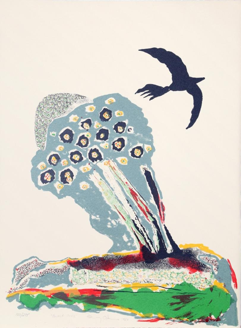 Benny Andrews, Black Bird, Lithograph,