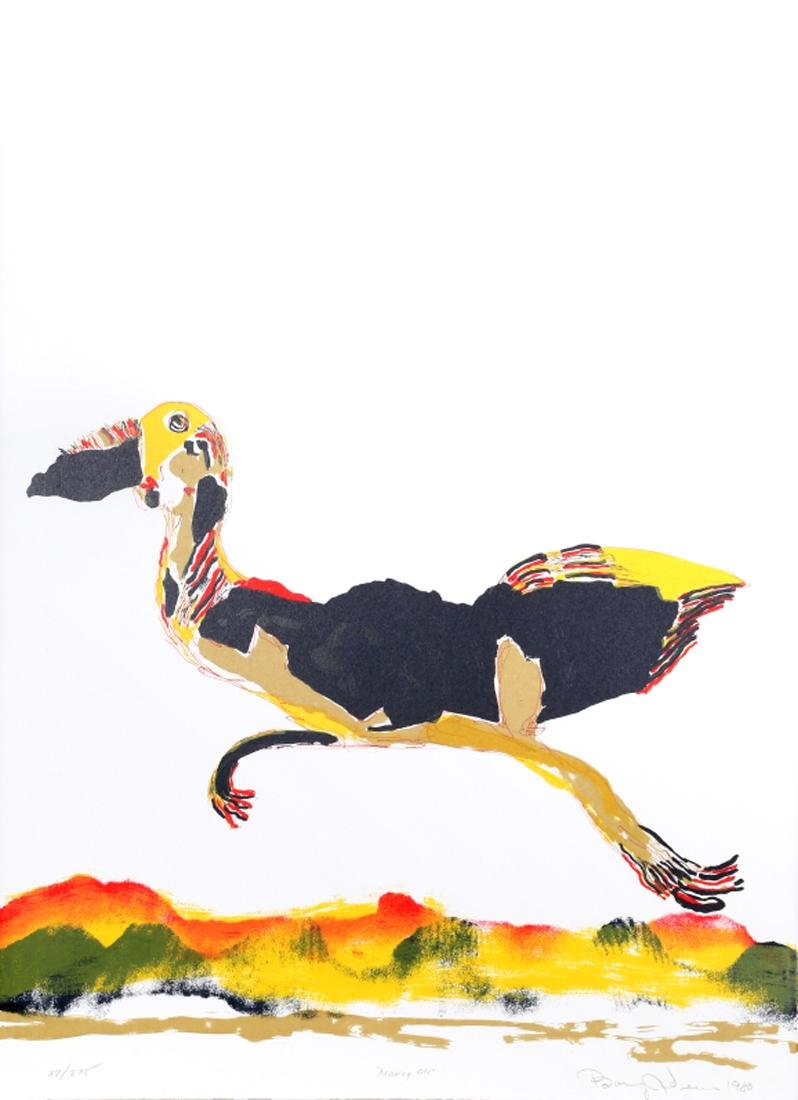 Benny Andrews, Moving On, Lithograph,