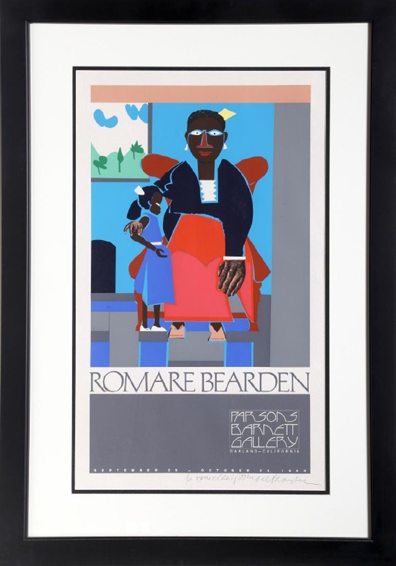 Romare Bearden, Mother and Child, Exhibition at Parsons