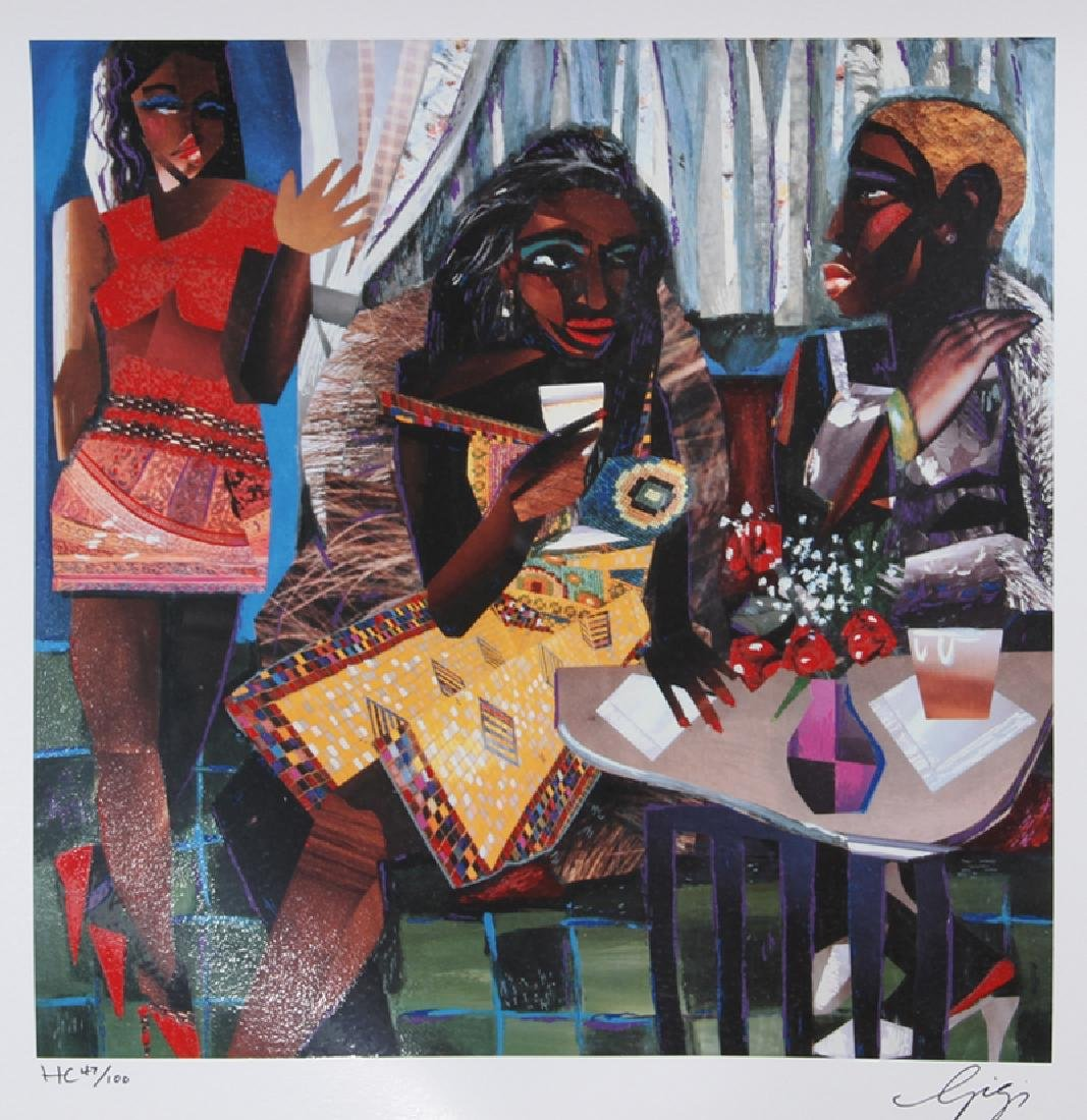 Gigi Boldon, Ladies Night Out, Serigraph, signed and