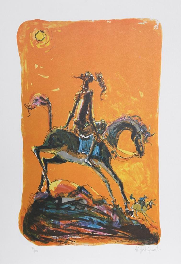 Alvin Carl Hollingsworth, Don Quixote 2, Lithograph,