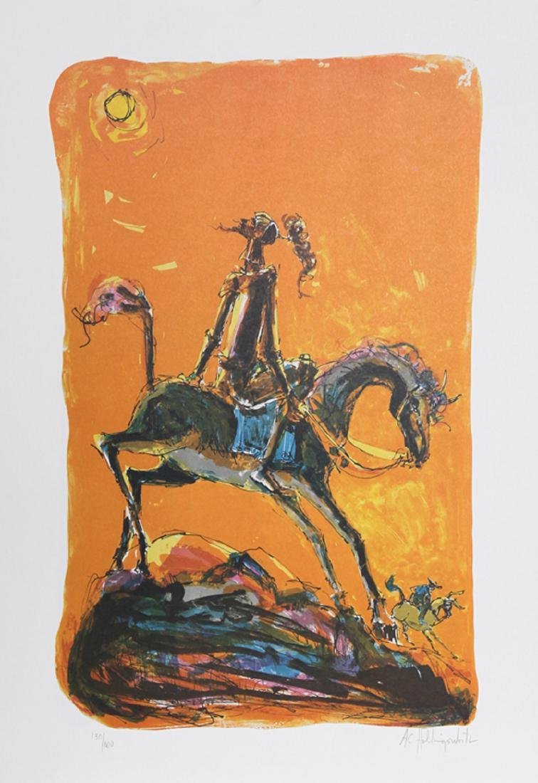 Alvin Carl Hollingsworth, Don Quixote 2, Lithograph,