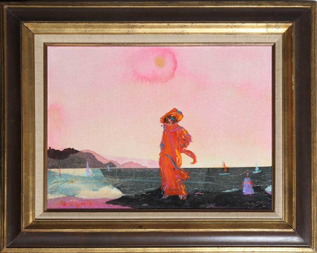 Alvin Carl Hollingsworth, Standing by the sea, Acrylic,