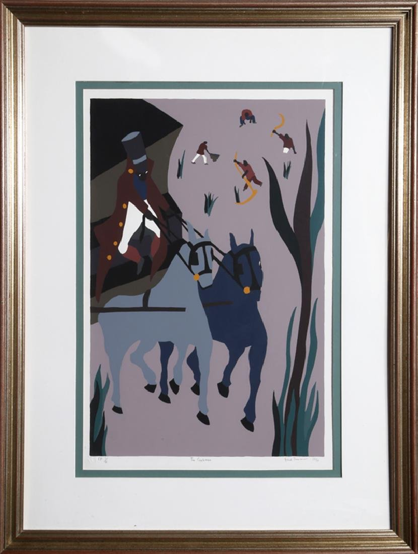 Jacob Lawrence, The Coachman, Screenprint,  , stamped
