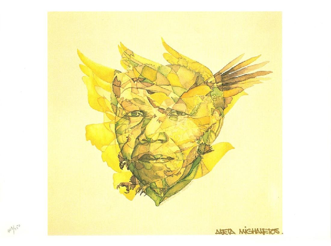 Aleta Michaletos, Rebirth - United Nations, Lithograph