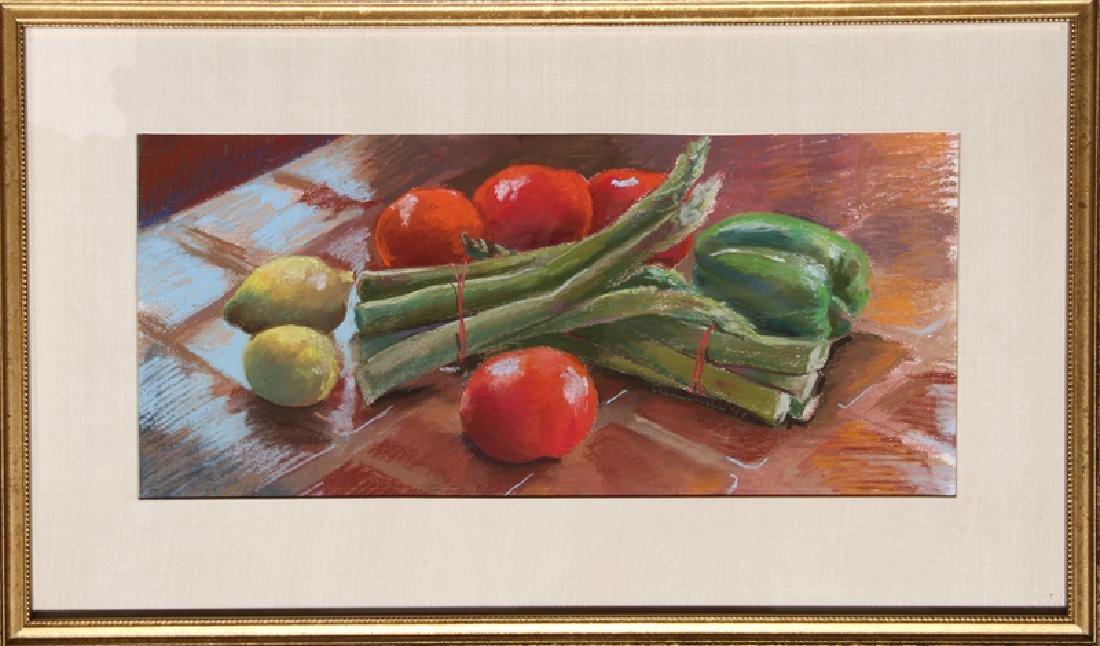 Susan Gerstein, Vegetable Still Life, Pastel  , signed