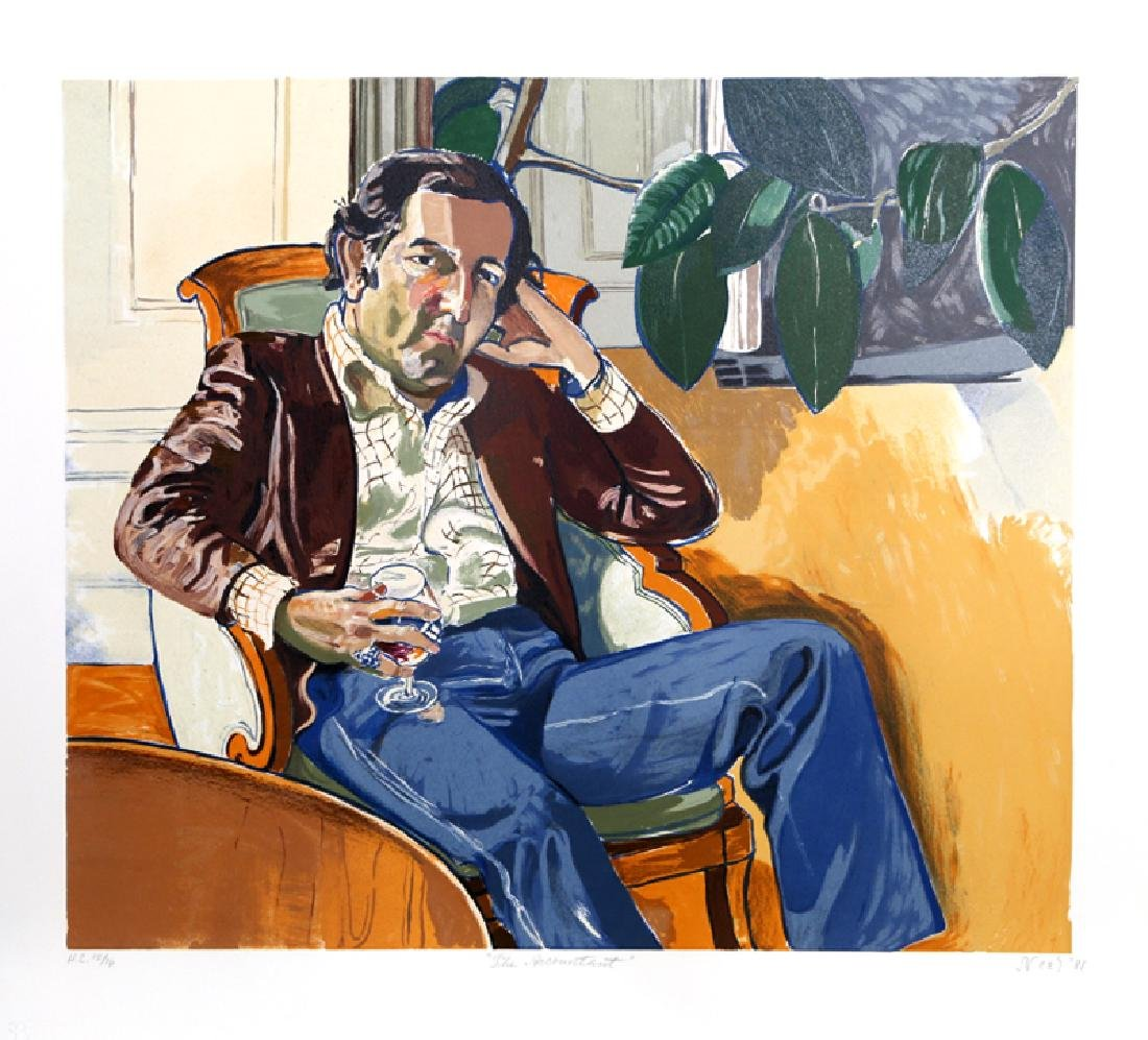 Alice Neel, The Accountant (Marvin), Lithograph,