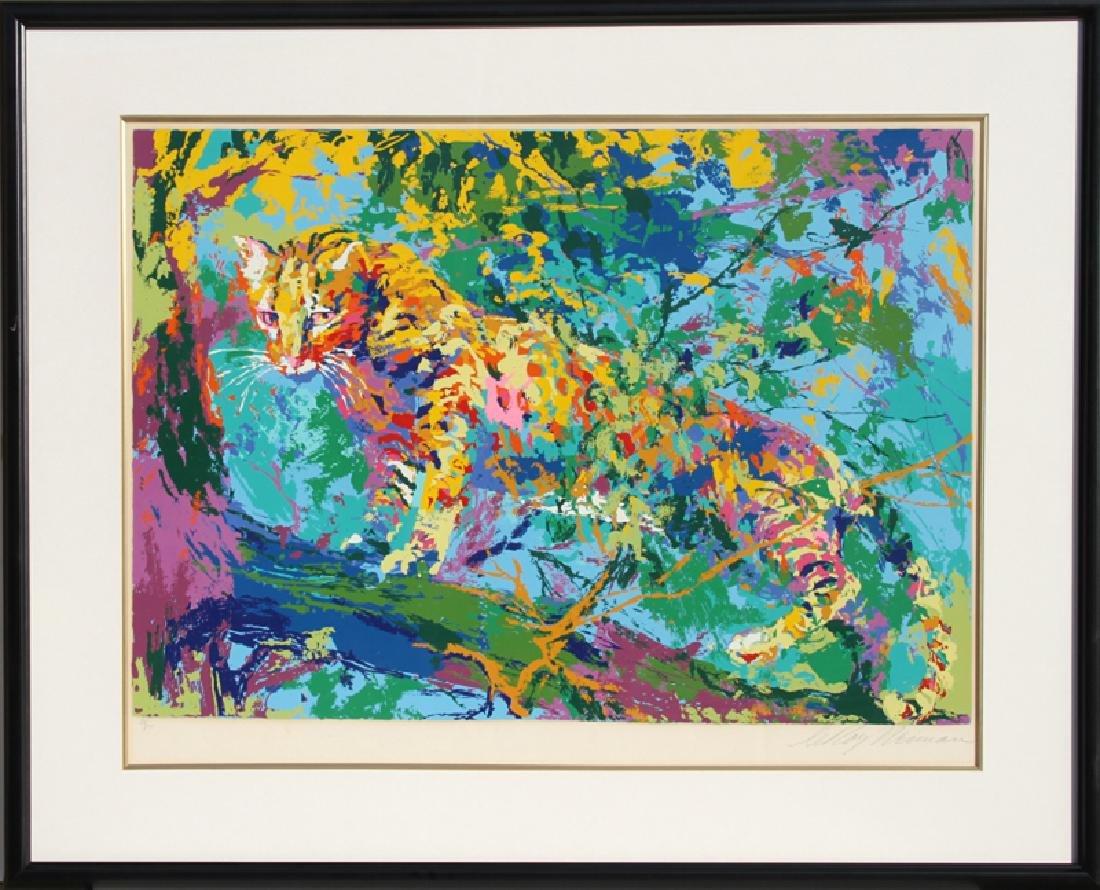 LeRoy Neiman, Ocelot, Serigraph,