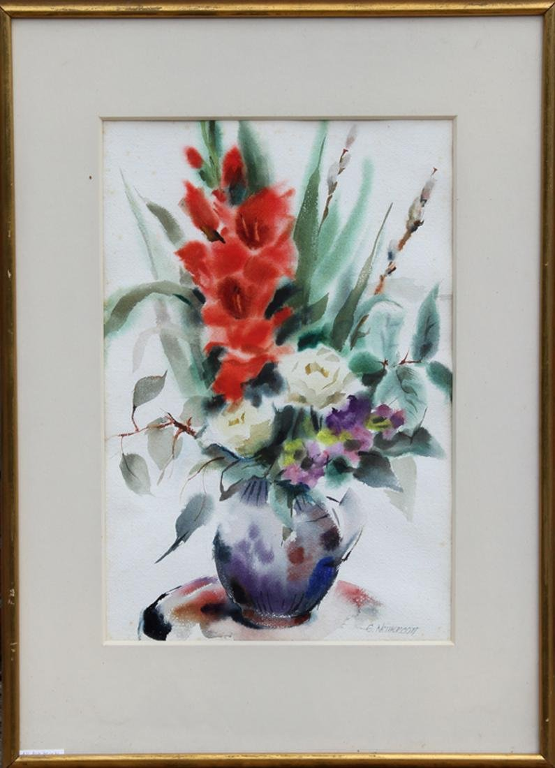 Eve Nethercott, Bouquet of Flowers I, Watercolor
