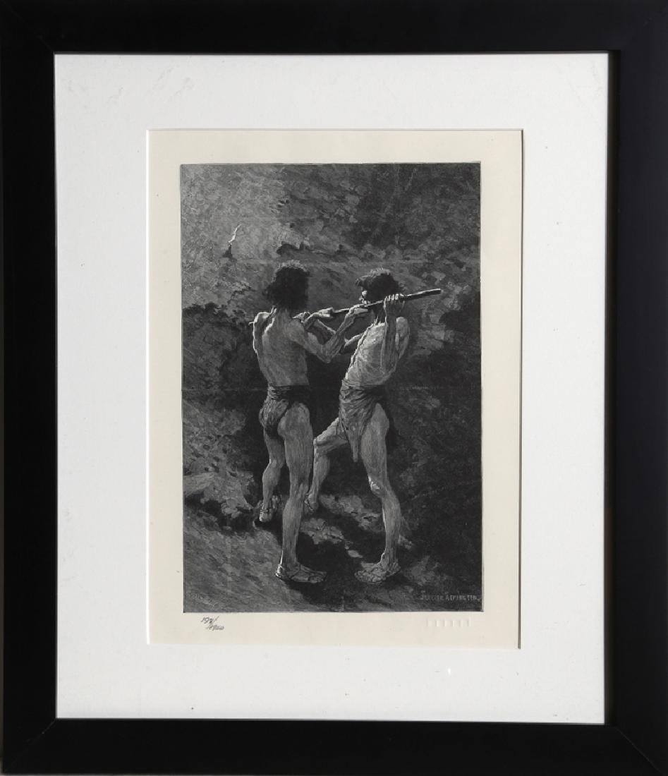 Frederic Remington, Mexican Miners, Lithograph, signed